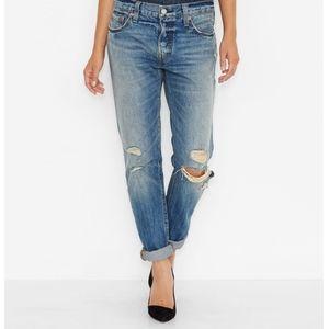 Levi's 501 CT distressed boyfriend jeans 31x27